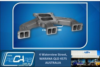 Redline 12-77 - Manifold to fit Holden 6cyl Blue Motor accepts 1 X 4brl Holley