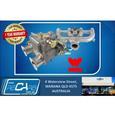 Single 40 DCOE GENUINE WEBER Carburetor Kit suit Toyota 2T 3T Aus Models Only Reco. Manifold