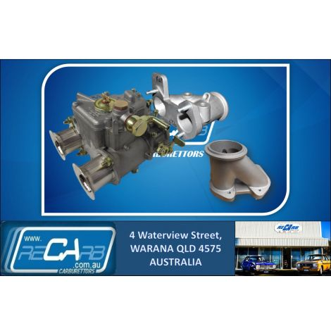 """New 40 DCOE GENUINE WEBER suit Turbo Supercharger Draw Through 3"""" V Band Kit Reco. Manifold"""