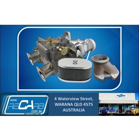 """New 40 DCOE GENUINE WEBER Turbo Supercharger Draw Through 3"""" V Band Kit w/Filter Reco. Manifold"""