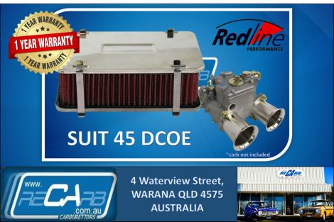 Redline 16-245 Cotton Element Rectangular 55mm High 45 DCOE Weber DHLA Dellorto
