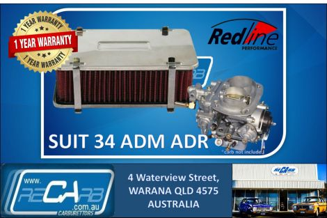 Redline 16-246 AirForce1 Cotton Element Rectangular 55mm Weber ADM ADF ADR