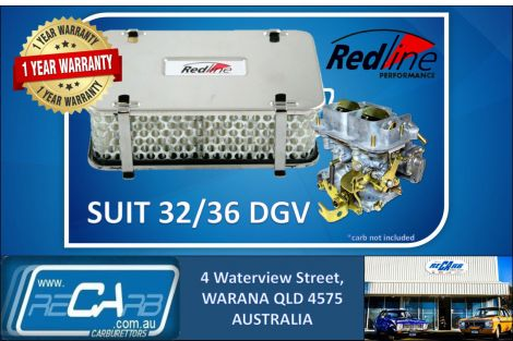 Redline 16-42 - Air Filter 55mm High Rectangular suit DGV DGAV DGEV DGAS Weber