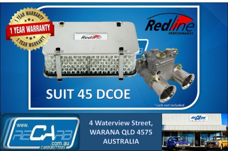Redline 16-45 Air Filter 55mm high rectangular suit 45 DCOE Weber DHLA Dellorto