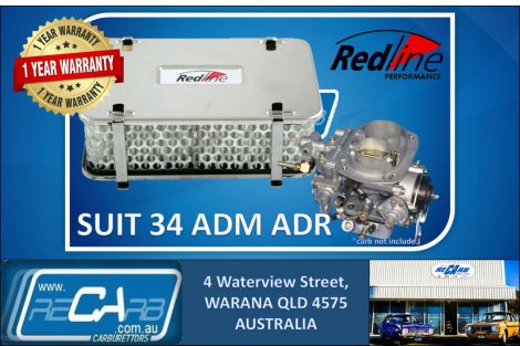 Redline 16-46 Air Filter 55mm Tall Rectangular Assembly suit ADF ADM ADR Weber