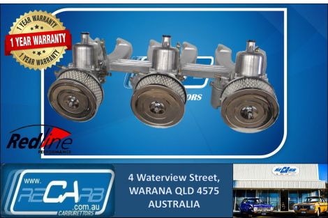 Triple SU HS6 Carburettor Conversion Kit Chrysler Valiant Slant 6 225 (Reconditioned Carbs)