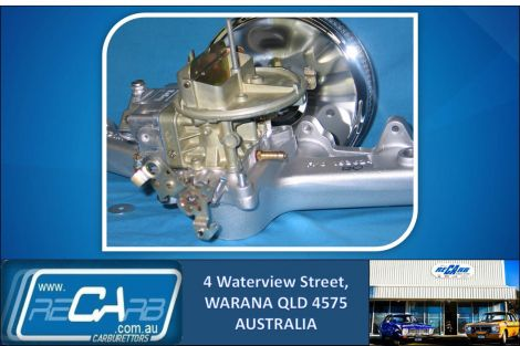 Ford Falcon and Cortina 250 X-flow Alloy Head NEW 350 Holley Carburettor Conversion Kit