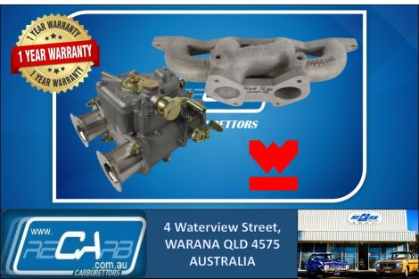 Single 40 DCOE GENUINE WEBER Carburetor Kit suit Ford Cortina 1600 Cross Flow