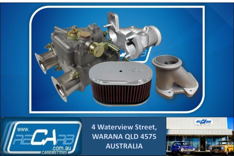 "New 40 DCOE GENUINE WEBER Turbo Supercharger Draw Through 3"" V Band Kit w/K&N Reco. Manifold"