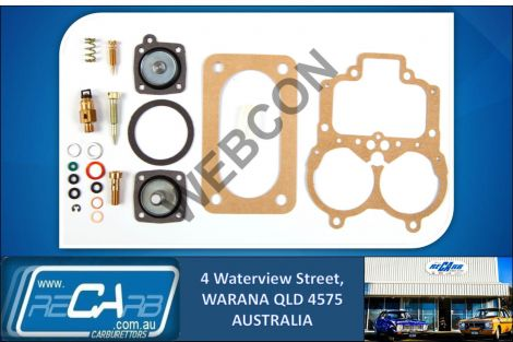 Webcon 9301490500 Carburettor Repair Kit w/ Extra Jets Weber DGV DGAV DGEV DGV5A
