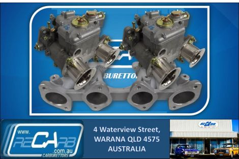 Datsun A14 A15 Oval Port - GENUINE WEBER Twin 40 DCOE Carburettor Conversion Kit
