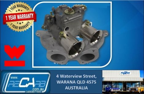 Single 45 DCOE GENUINE WEBER Carburettor Conversion Kit Nissan Datsun A14 A15