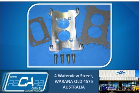 Adapter Plate 2 Brl Holley to WW Stromberg Holden 253 186S & all Carter 2 Brl
