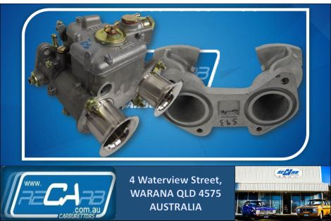 Austin Sprite - GENUINE WEBER 40 DCOE Carburettor Conversion Kit - Reco Manifold