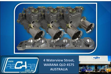 BMW M20 6 Cyl BELTDRIVE GENUINE Triple WEBER 45 DCOE Side-draft Carburettor Kit