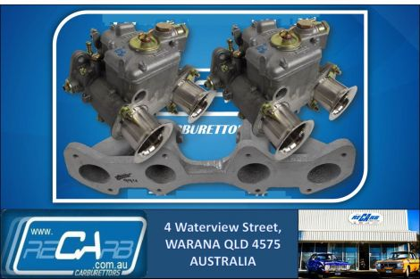 Ford Cortina 1500 - GENUINE Twin 40 DCOE WEBER Carburettor Conversion Kit Reco. Manifold
