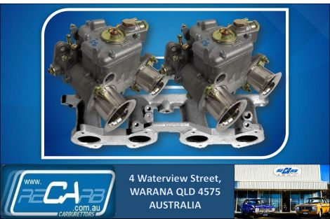 Ford Cortina 1600cc X-Flow 1967-1970 - GENUINE Twin 40 DCOE WEBER Carburettor Conversion Kit