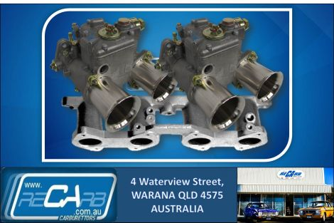 Ford Cortina 1600cc X-Flow 1967-1970 - GENUINE Twin 45 DCOE WEBER Carburettor Conversion Kit