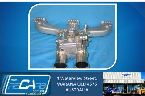 Holden Red Motor - GENUINE WEBER 45 DCOE Carburettor Conversion Kit - CAIN Manifold