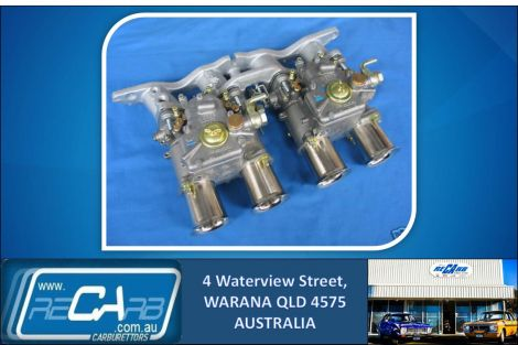 Ford 2lt Escort Cortina Pinto - GENUINE Twin 45 DCOE WEBER (New) Carburettor Kit