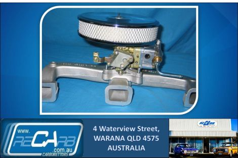 New Holden Red motor 6cyl 330 Holley Carburettor Conversion Kit (Economic/Street Use)