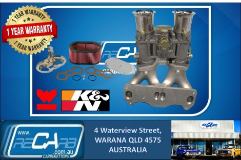 Mazda RX-7 13B 4 Port Rotary GENUINE WEBER 48 IDA New Carburettor Manifold K&N Filter