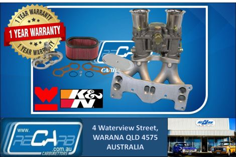 Mazda RX-7 13B 6 Port Rotary GENUINE WEBER 48 IDA Carburettor Manifold K&N Filter