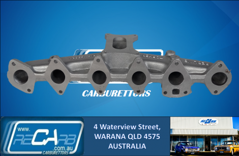 Ford Falcon and Cortina 250 X-flow Iron Head Reco Manifold + NEW 350 Holley Carburettor Conversion Kit