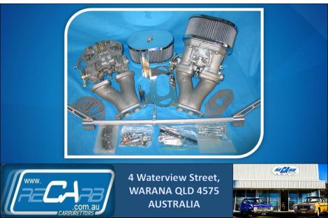 VW type 1 Karmann Ghia - GENUINE Twin 36 WEBER IDF Carburettor Conversion Kit