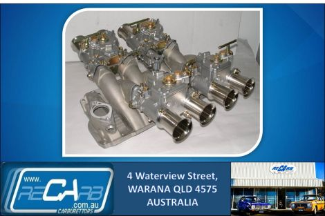 New GENUINE WEBER 45 DCOE Quad Carburettor Carby Set suit Chevrolet 350 Chev V8